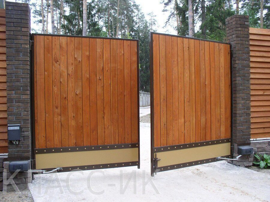 Распашные ворота для дачи фото купить ворота в подольске